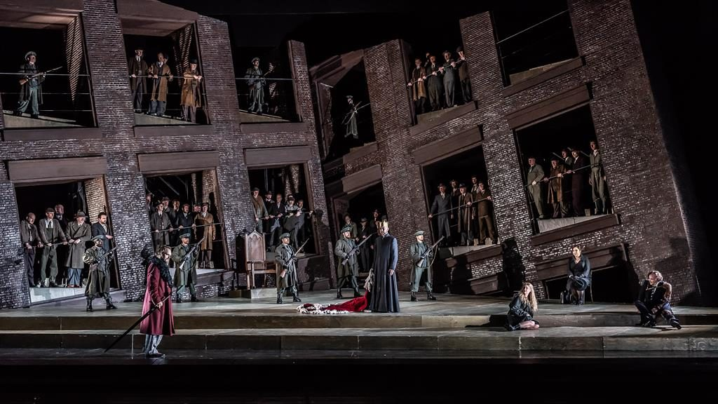 Dystopian: Grim Soviet-style blocks in this patchy Lohengrin PHOTO: CLAIRE BARDA