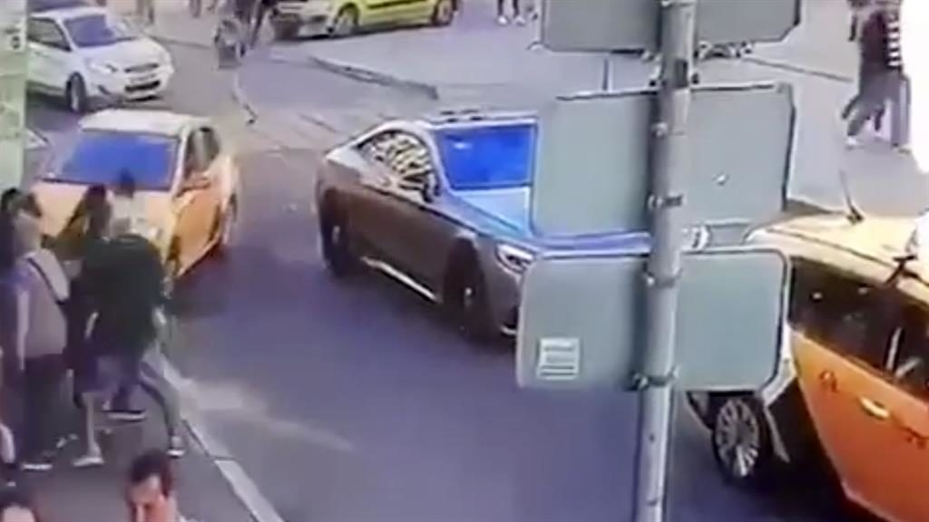Taxi Ploughs Into 'World Cup Fans' In Moscow Leaving Seven Injured