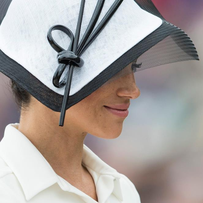 Hat's the way I like it: The duchess at Ascot yesterday PICTURES: REX/GETTY/HULU