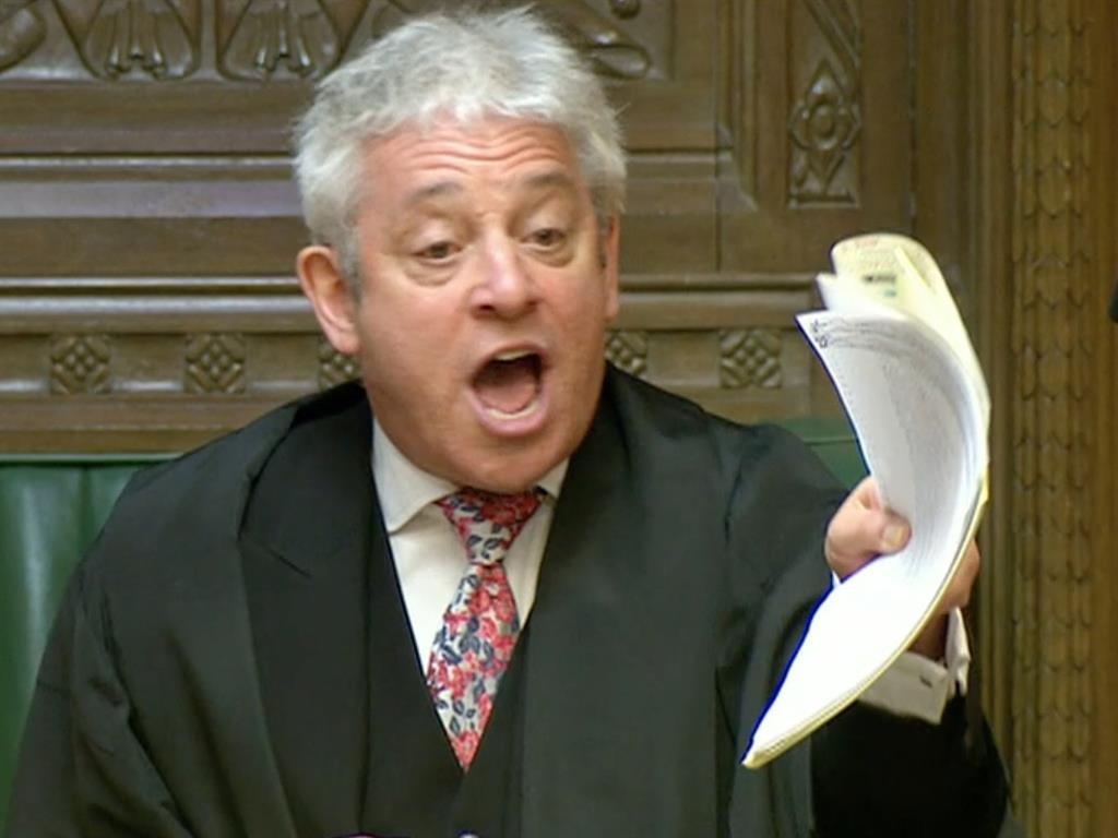 Marching orders Speaker John Bercow told Mr Blackford to leave