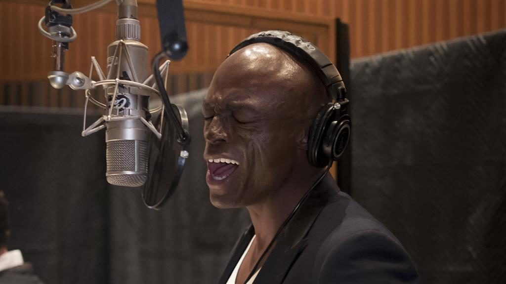 Vocal supporter: Seal on the mic