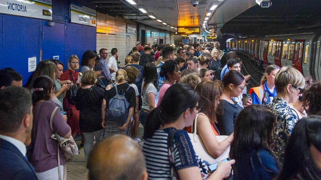 Packed: Queues at Victoria station PIC: I-IMAGES