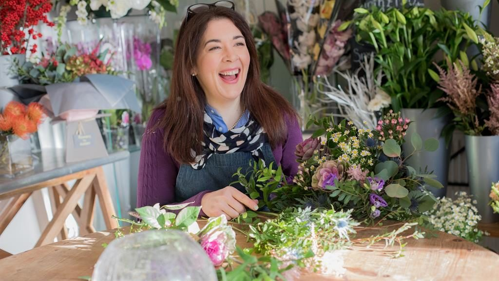 Critical eye: Elizabeth McKenna, who set up online florist Lizzie's Bundles last year