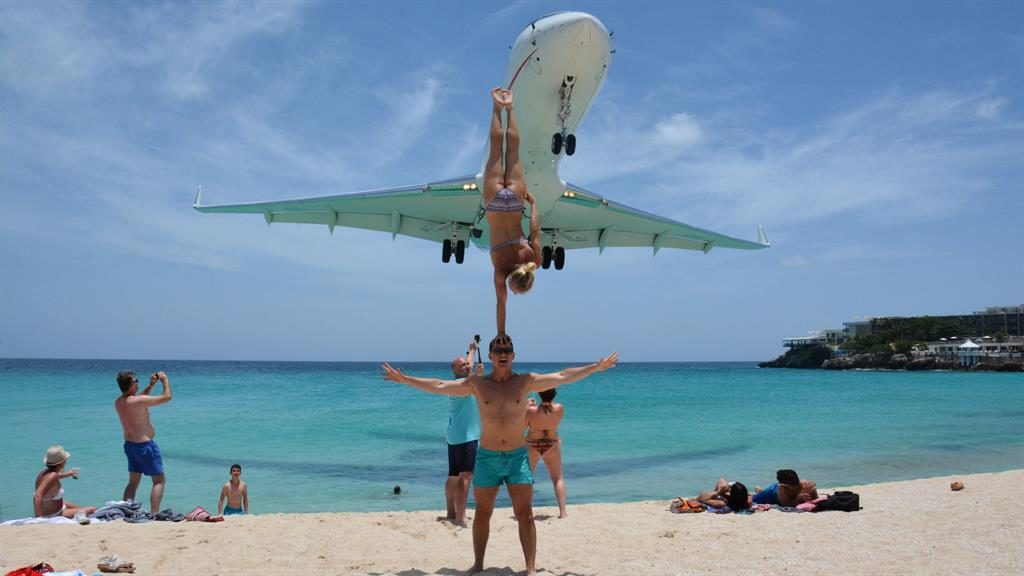 Explore The Beauty Of Caribbean: Plane Stupid: Acrobats Slammed After Close Shave With
