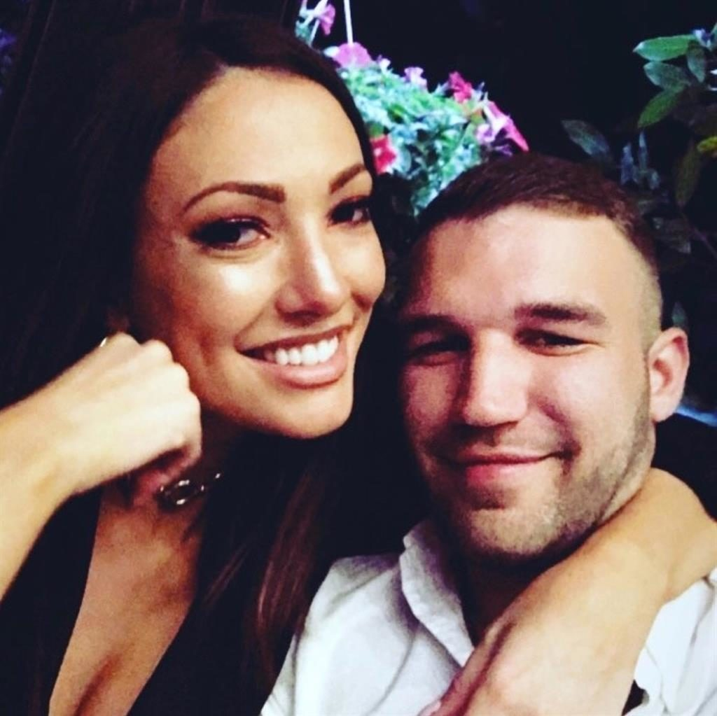 Together: Sophie Gradon and Aaron Armstrong, who was also found dead PICTURE: BACKGRID
