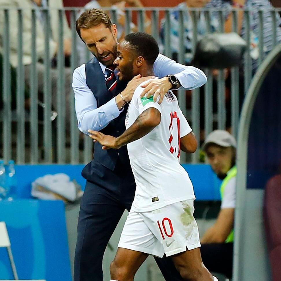 Time for a change: Gareth Southgate substitutes Raheem Sterling in semi-final PICTURE: REX