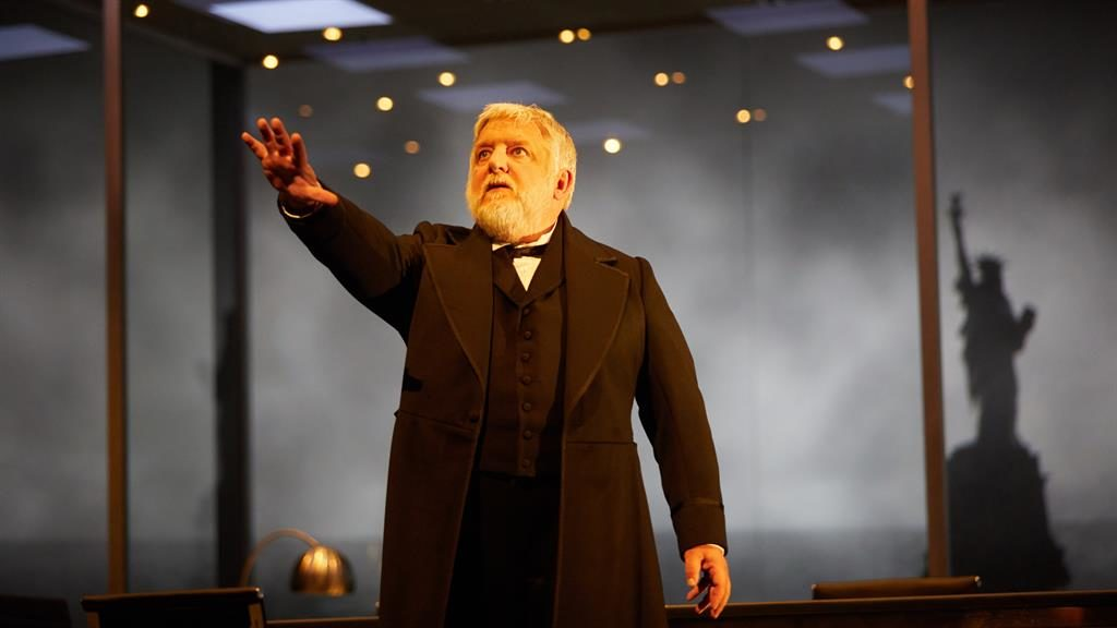 The American scheme: Superlative performances from Simon Russell Beale with Ben Miles and Adam Godley (below) PICTURES: MARK DOUET