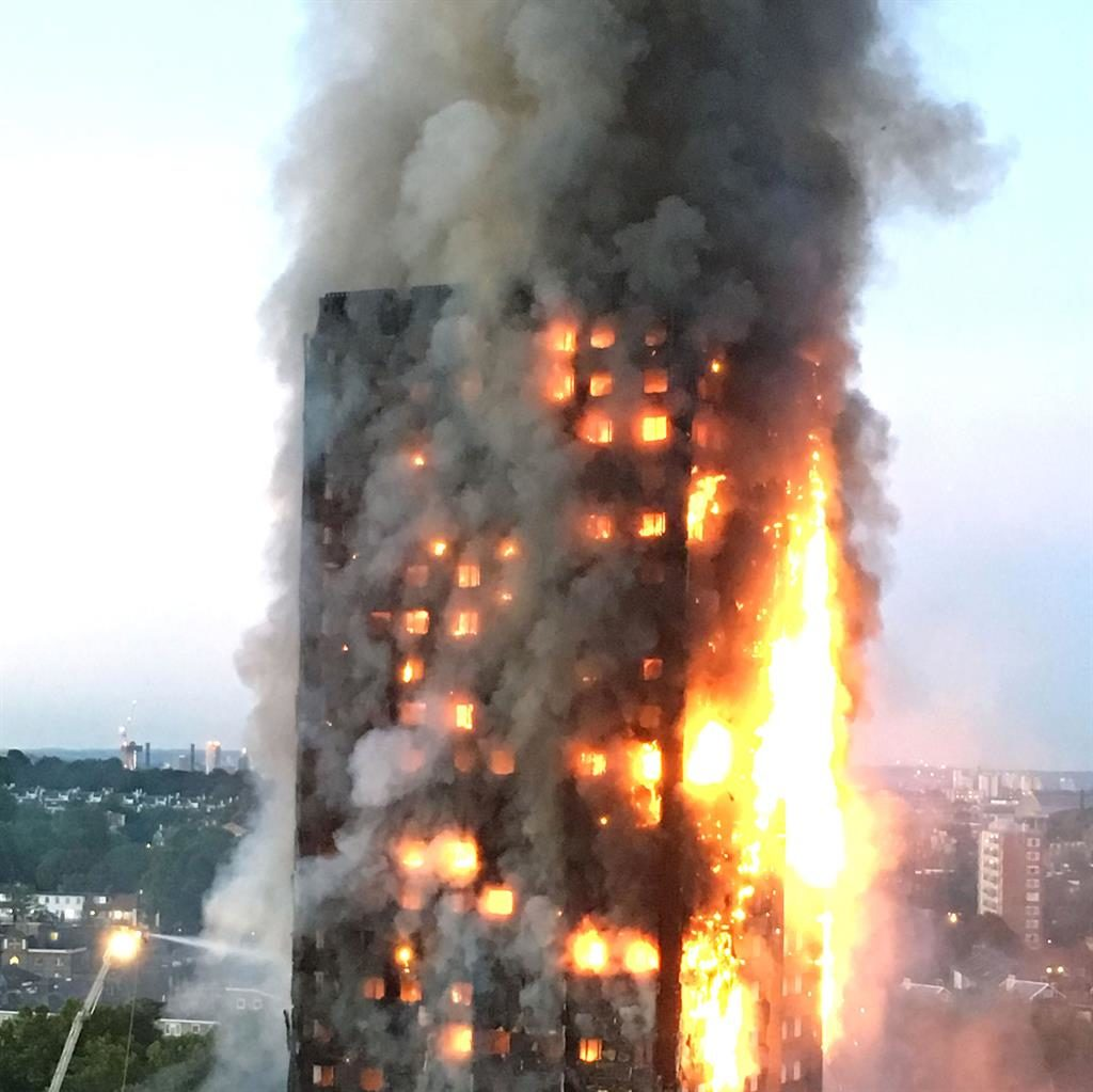 Disaster: 72 people died in tower fire PICTURE: PA