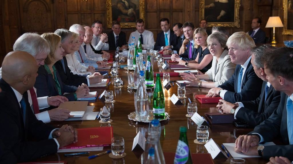 Divided cabinet: The Chequers meeting that was meant to settle the Brexit plan PIC: PA