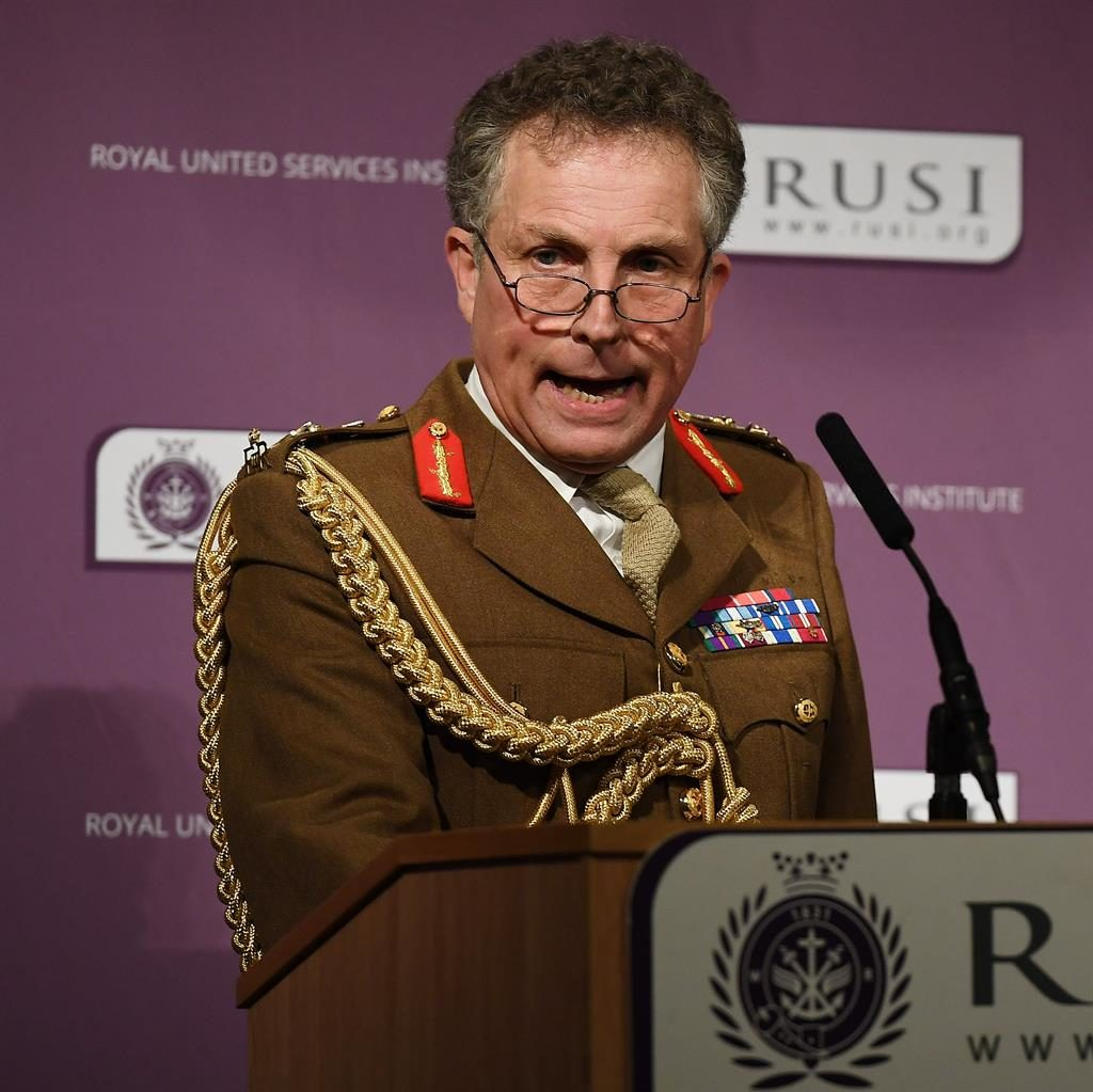 'Not on my watch': Gen Sir Nick Carter PIC: EPA