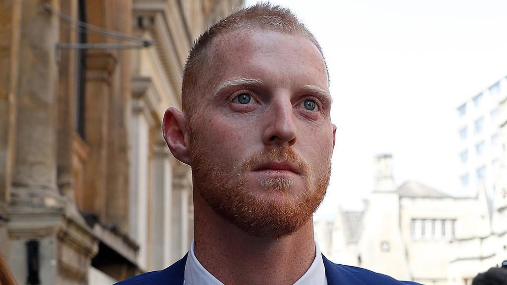 In court: Ben Stokes PICTURE: AFP