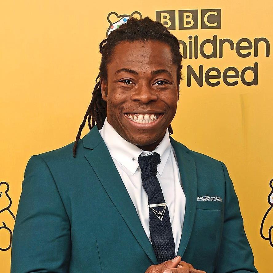 Image result for ade adepitan cyborg cat children in need