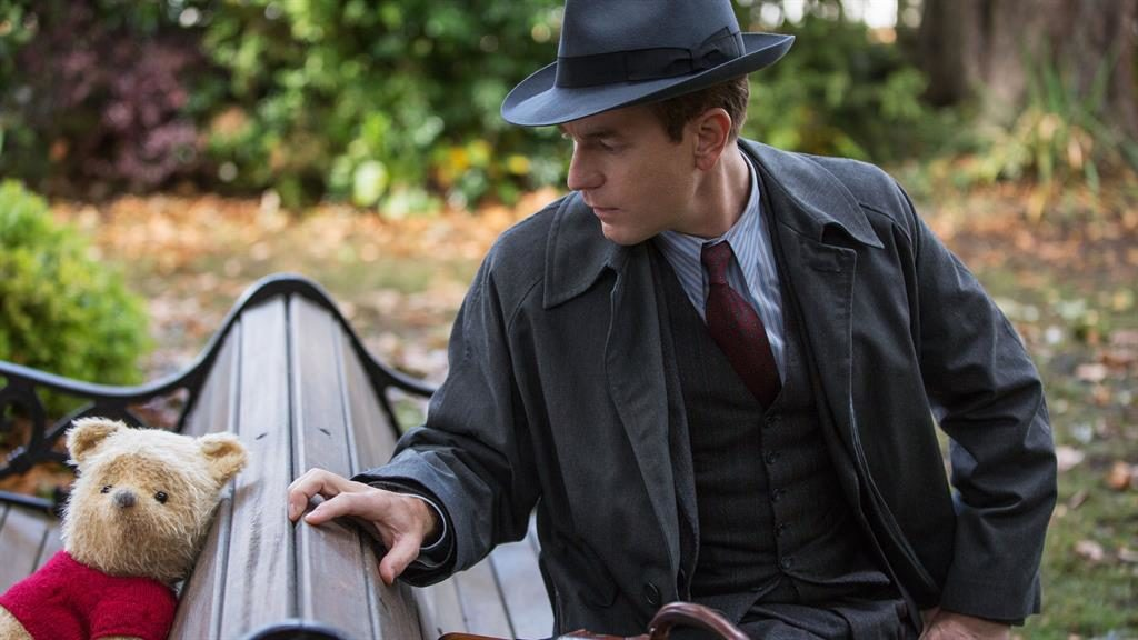 Lessons: Ewan McGregor as a grown-up Christopher Robin is schooled by Winnie The Pooh