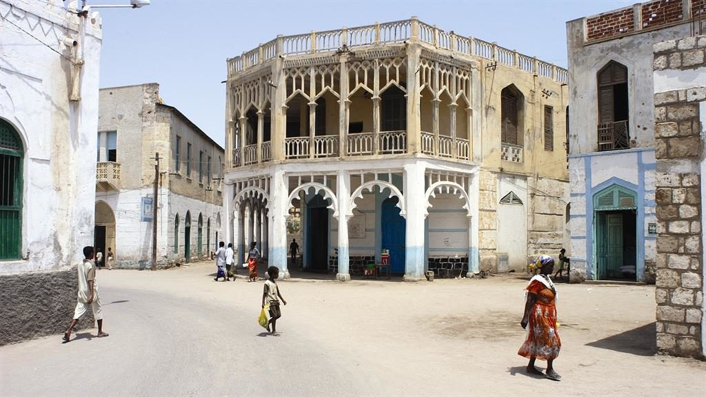 Colonial: Historic buildings in the port town of Massawa