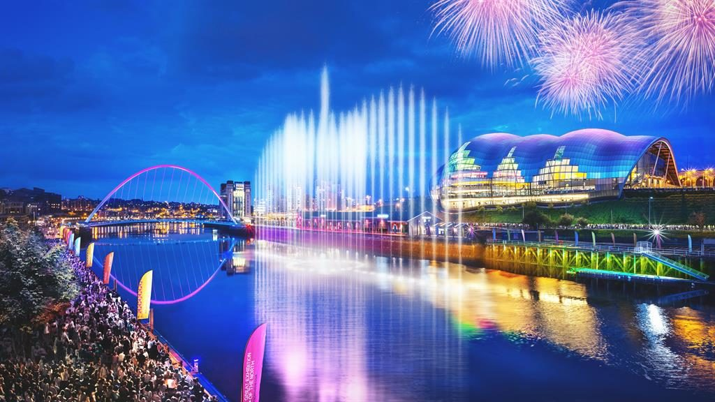Aquatic ballet: The 80-metre water sculpture on the Tyne is a highlight of The Great Exhibition Of The North