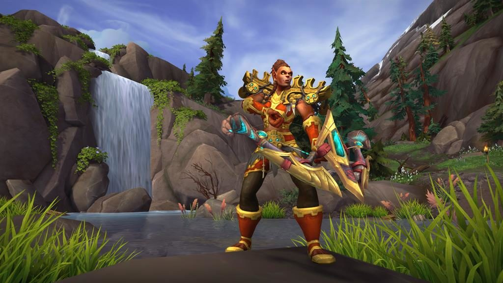 Body armour: Among the new races in the seventh Warcraft game are the Allied Mag'har Orcs