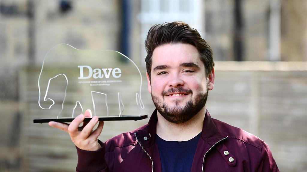 Just the job! Adam Rowe scoops the funniest joke gong at Fringe