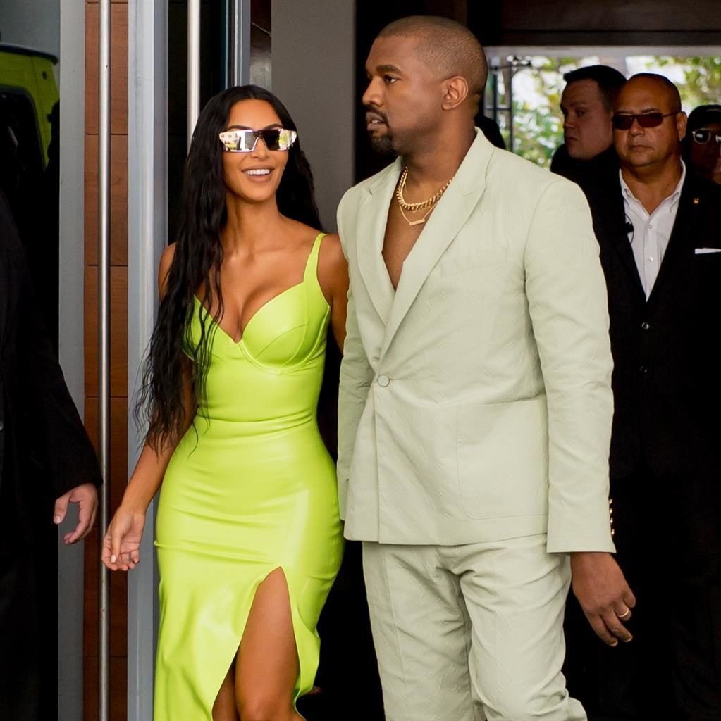 Very superstitious: Kim Kardashian and Kanye West PIC: SPLASH NEWS