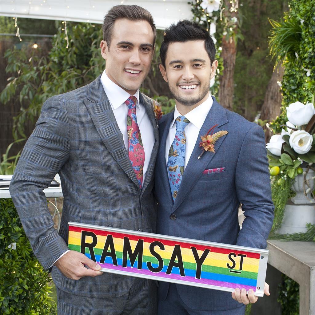 Kylie Jason In Tune For Ramsay Street S Gay Wedding Metro