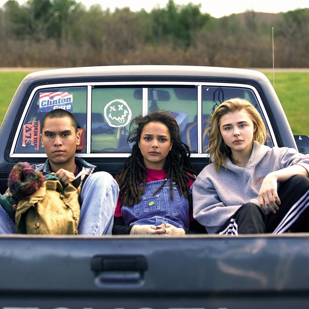 Outsiders: (from left) Forrest Goodluck, Sasha Lane and Chloë Grace Moretz