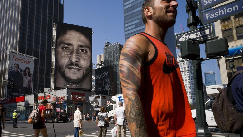 Colin Kaepernick visits Nike for 'Just Do It' 30th anniversary celebration