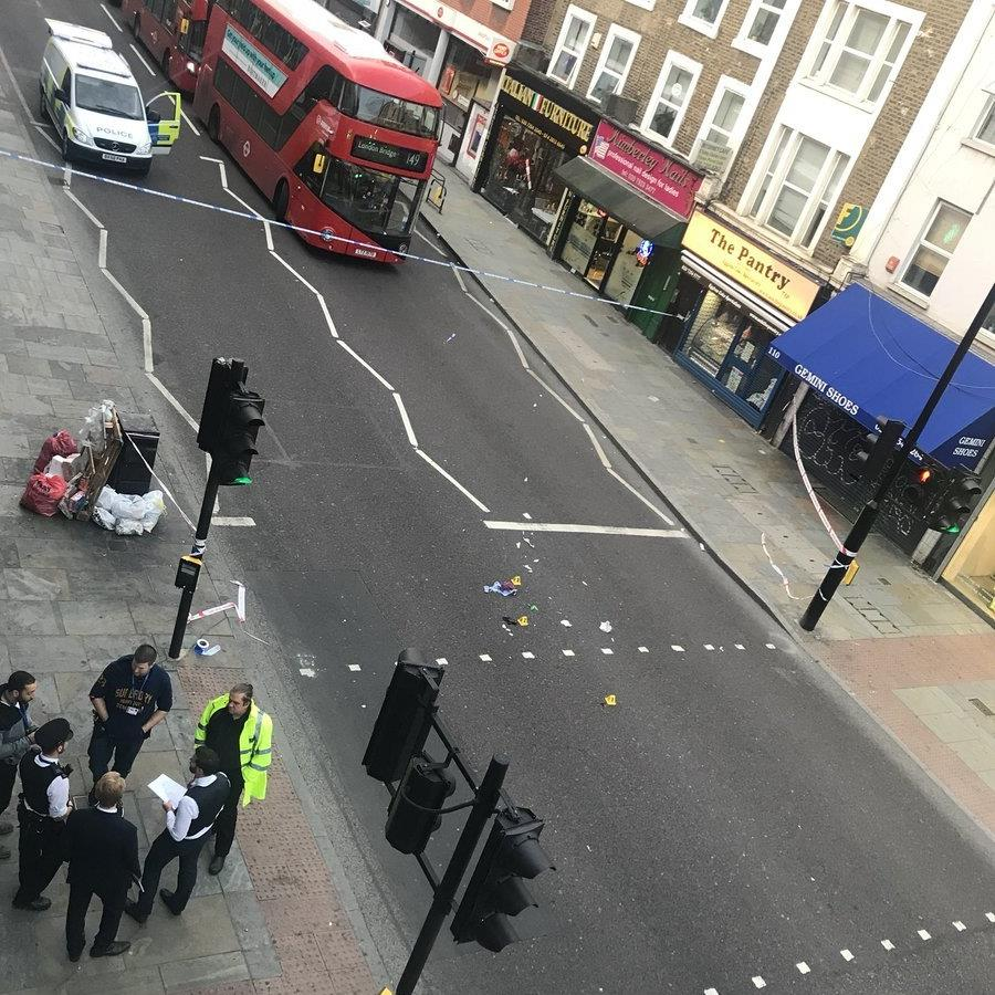 Crash scene: The spot where Sakine Cihan was hit by an electric bike PICTURE: PA