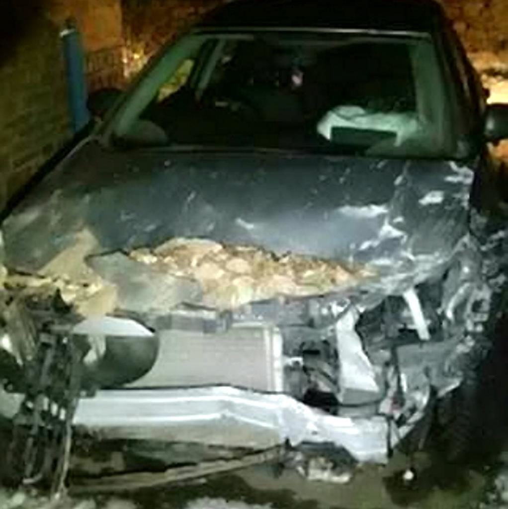 Impact: Son's wrecked car PICS: SWNS