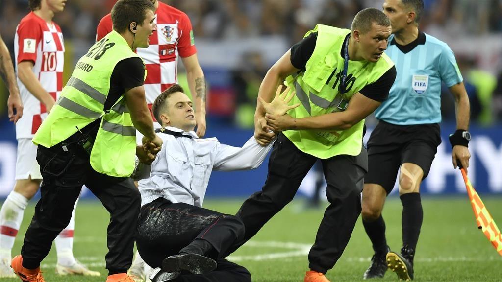 Final: Mr Verzilov's protest PIC: AP