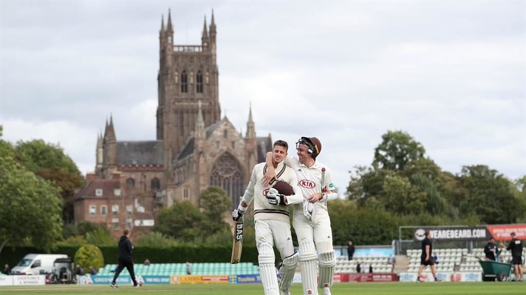 Road to glory: Rikki Clarke (right) and Morne Morkel celebrate after clinching victory