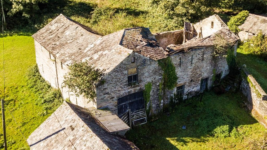 Crumbling: Ruins of Crowndale Farm are on the verge of collapse PICTURES: SWNS