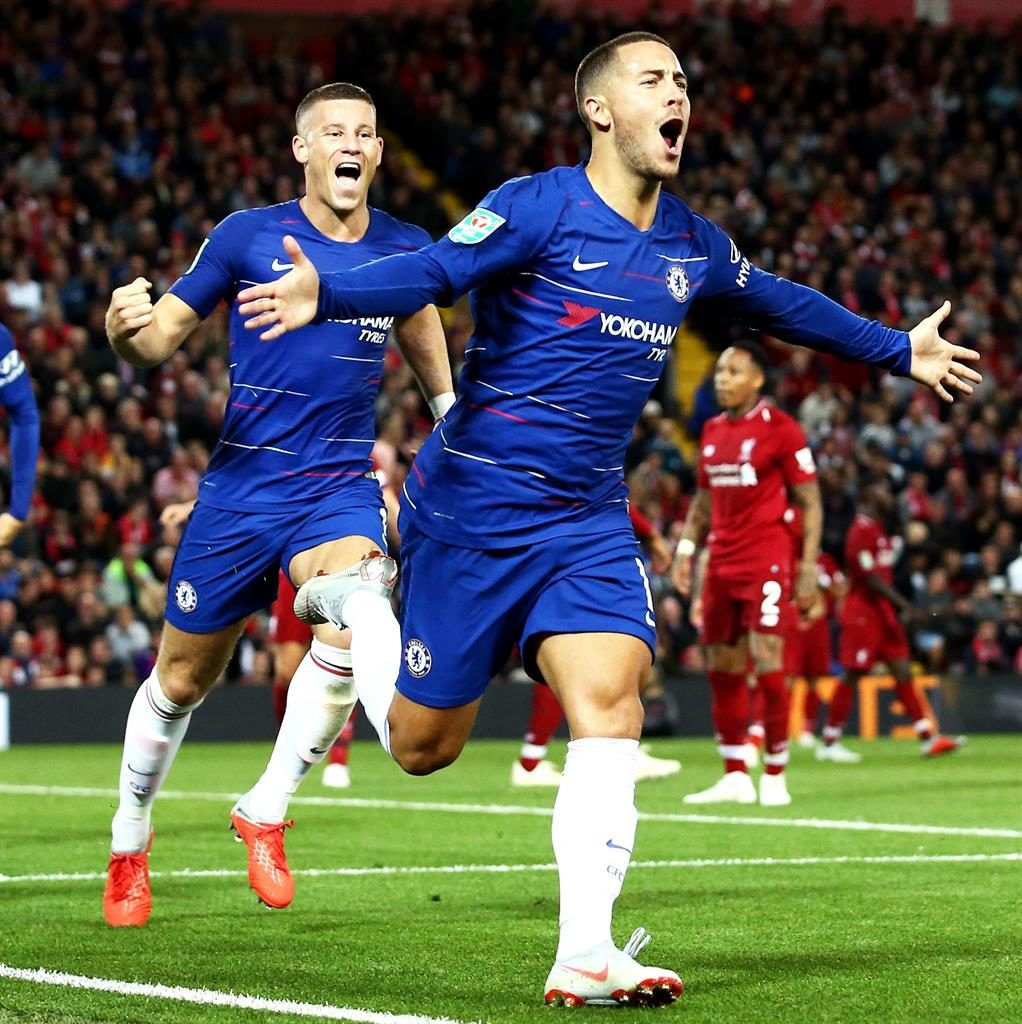Magnificent Hazard ends Liverpool's 100 percent start
