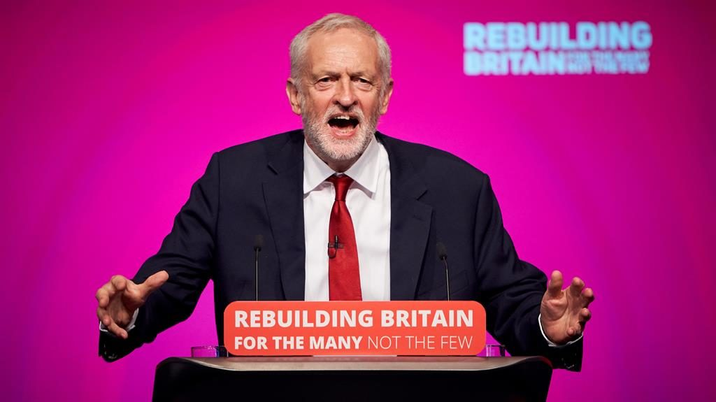 'Serious stuff': Jeremy Corbyn addresses the Labour Party conference PICTURE: REX