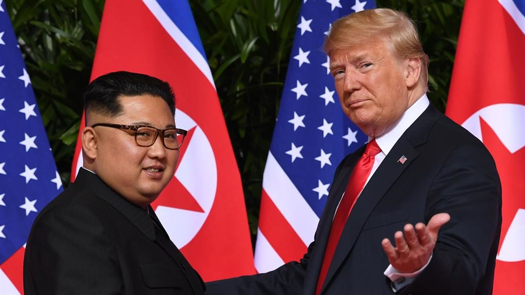Best pals: Kim and Trump PICTURE: SAULLOEB/AFP/GETTY