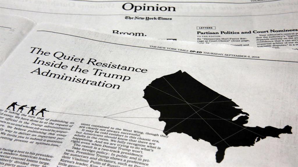 Explosive New York Times piece said 'resistance' stifles president's impulses