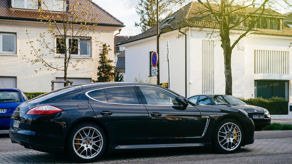 Pricey The footballer's Porsche Panamera was worth £65,000