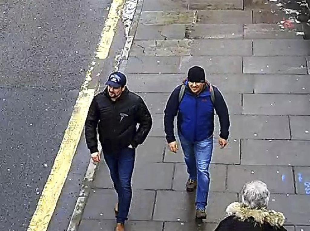 Sightseers? Boshirov and Petrov on the 'slushy streets' of Salisbury