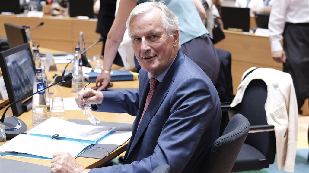 Brexit briefing Michel Barnier at meeting in Brussels yesterday