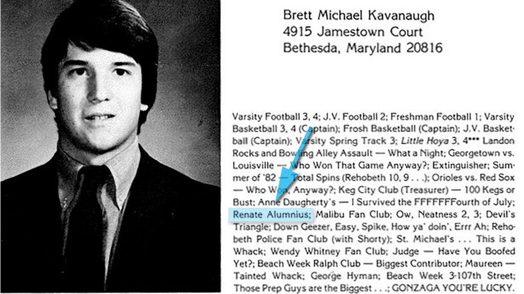 Bragging Brett Kavanaugh's 'sporting achievements' in his high school yearbook