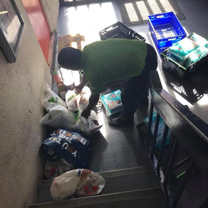 Delivery dump: The driver left mum Amy Natasha Botten's shopping, much of it unbagged, at the foot of the stairs PICTURE: SWNS