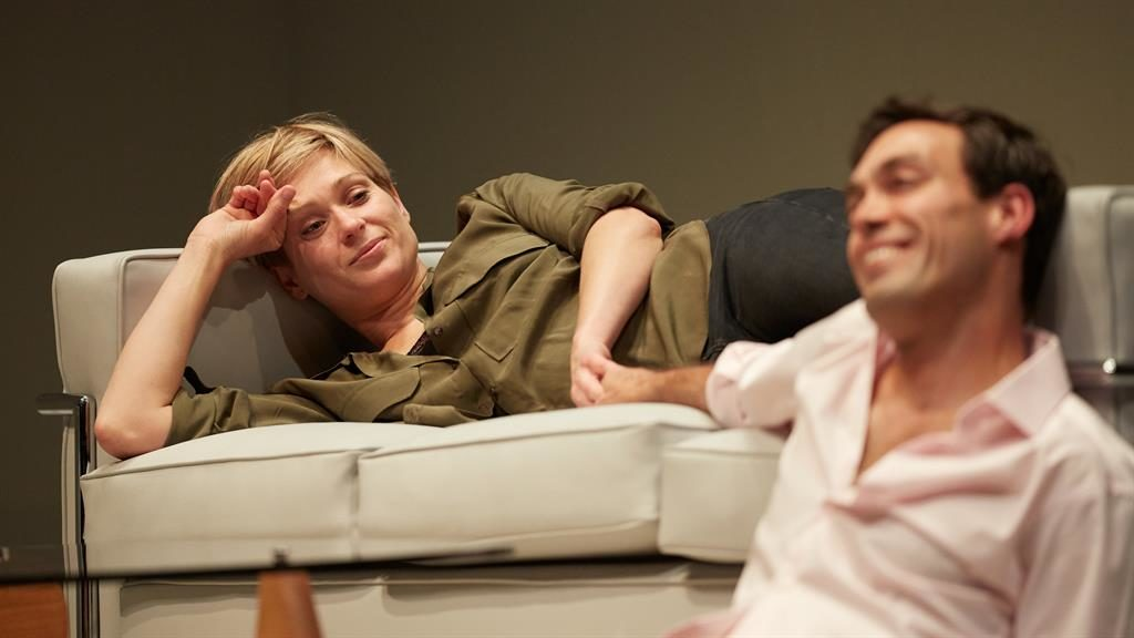Conflict: Sian Brooke and Alex Hassell also play former lovers PICTURES: MARK DOUET