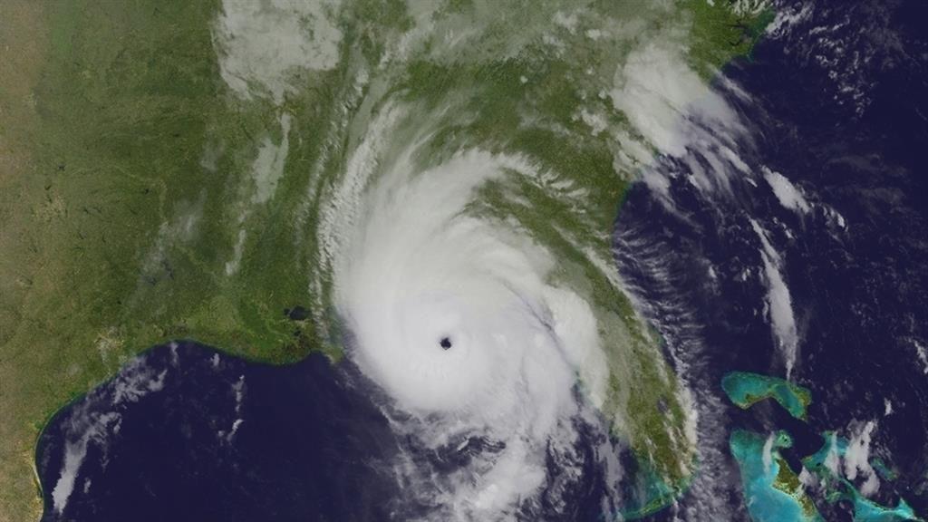 Eye of the storm: Hurricane Michael over Florida