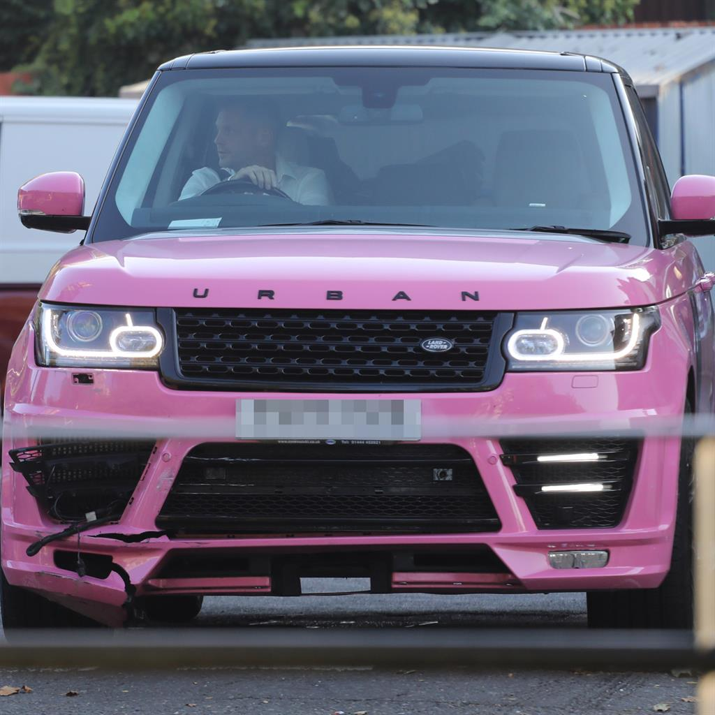 Hard to miss: Friend picks up Range Rover Price was spotted in by police PIC: MEGA