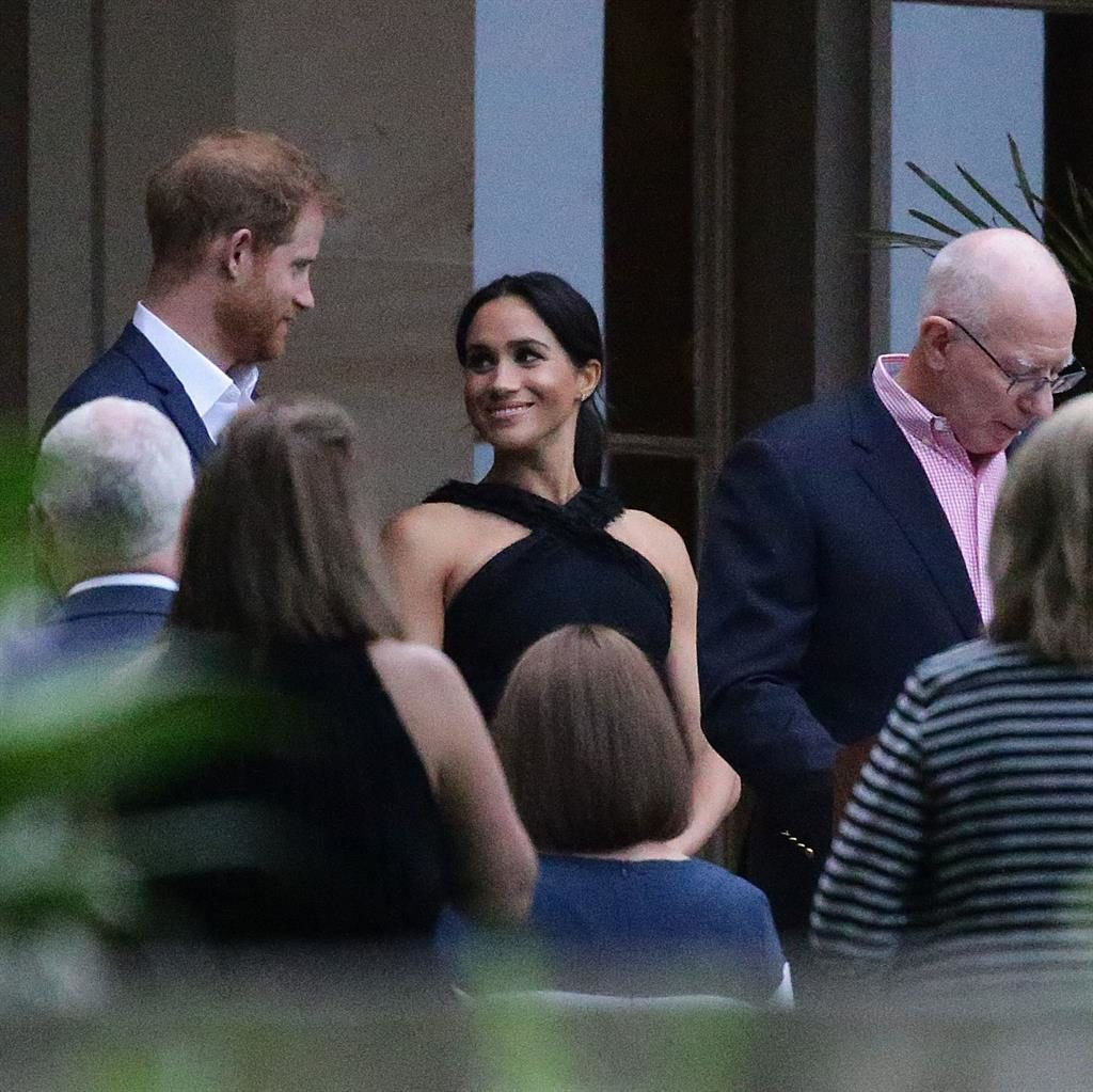 Look of love: Harry and Meghan at Government House PICTURE: MATRIX
