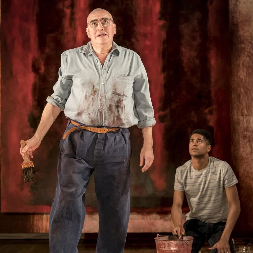 A brush with genius: Alfred Molina as Mark Rothko alongside his awestruck assistant, Ken, played by Alfred Enoch, in Red PICTURE: JOHAN PERSSON