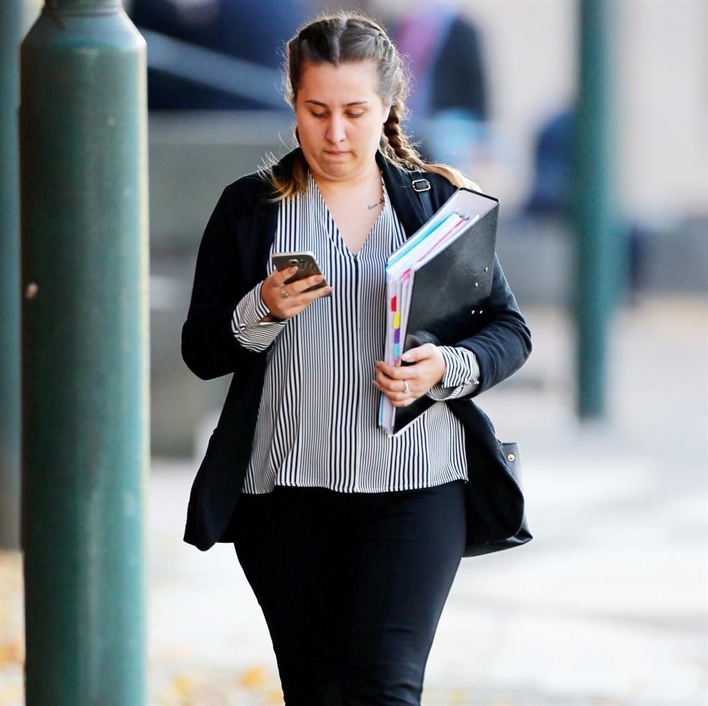 Convicted: Demi Harris outside court PIC: SWNS