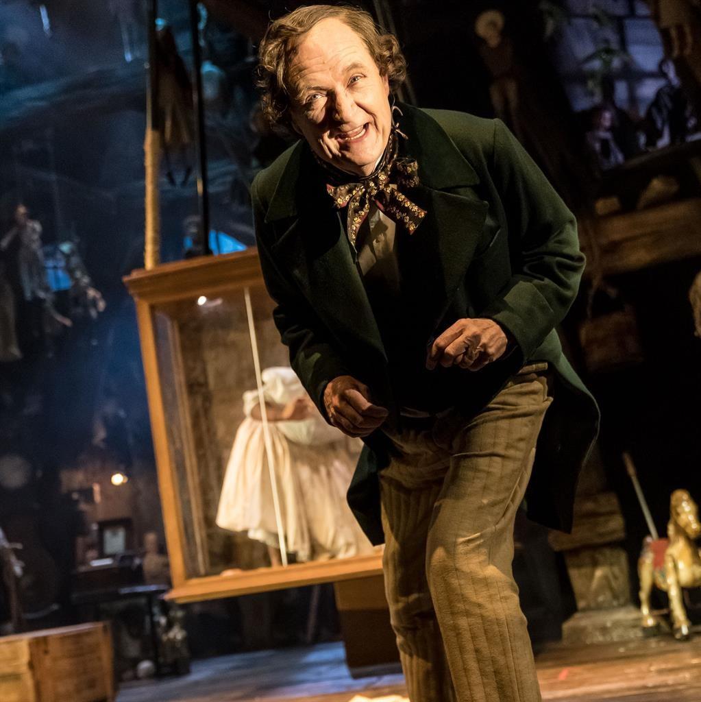 Writer's schlock: Jim Broadbent as a sadistic Hans Christian Anderson and (below) with Phil Daniels as Dickens PICS: MANUEL HARLAN
