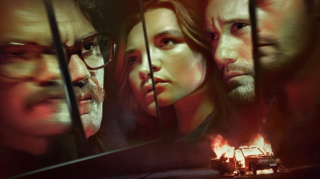 Revenge story: Michael Shannon (left), Florence Pugh and Alexander Skarsgård star in The Little Drummer Girl