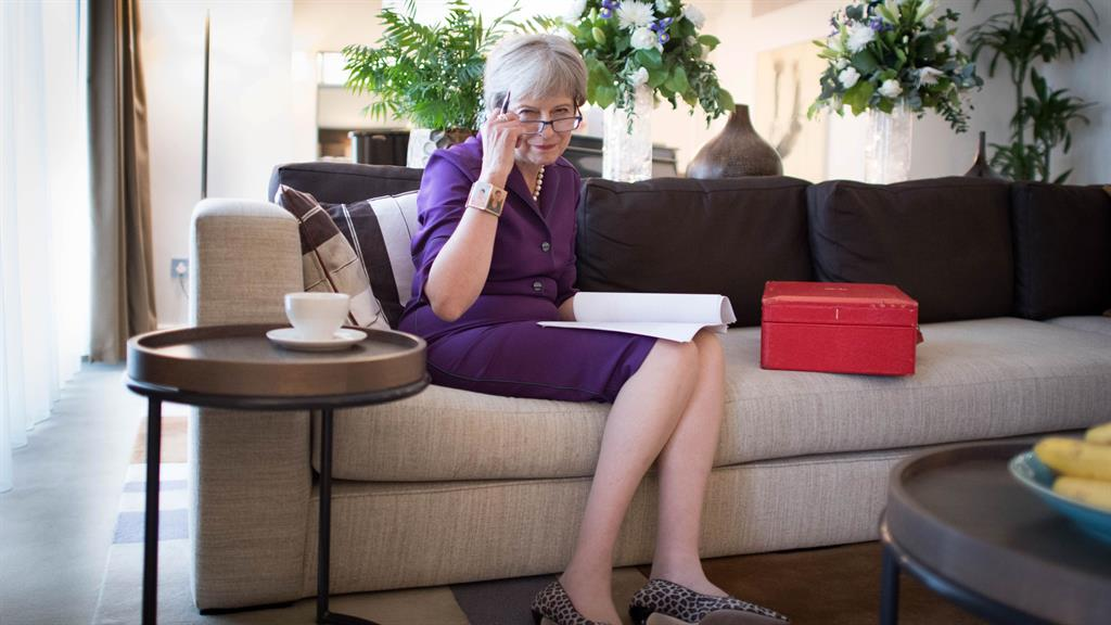 Writing talk Mrs May puts the finishing touches to her keynote speech
