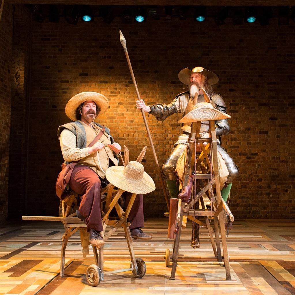Don time: David, right, stars as Don Quixote with Rufus Hound playing his sidekick, Sancho