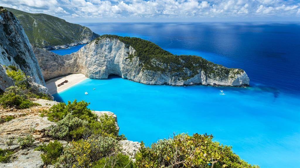Immaculate island: Ainsworth loves the beach and cobbled streets of Zakynthos